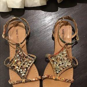 Nine West bejeweled sandals